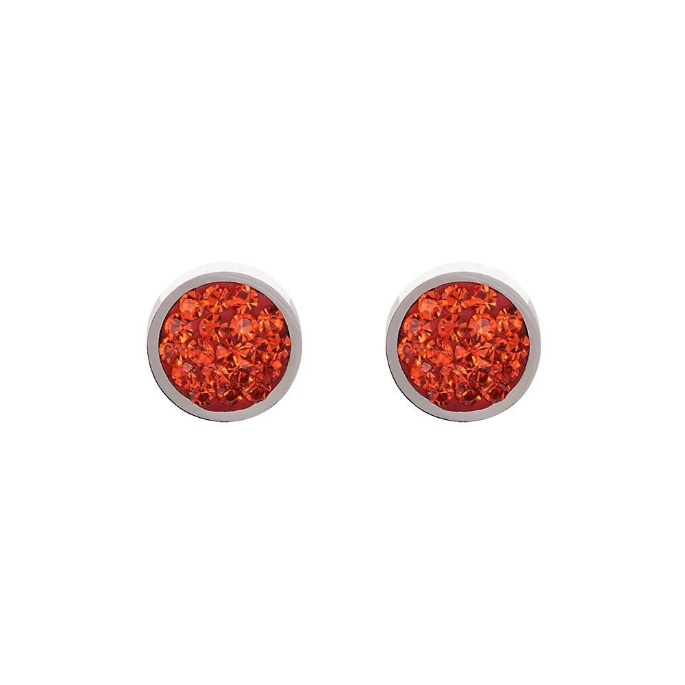 Coeur De Lion Dark Orange Earrings, Leather