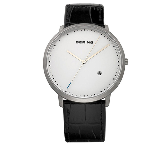 Bering Men's Steel Case Silver Brushed Watch | 11139-404