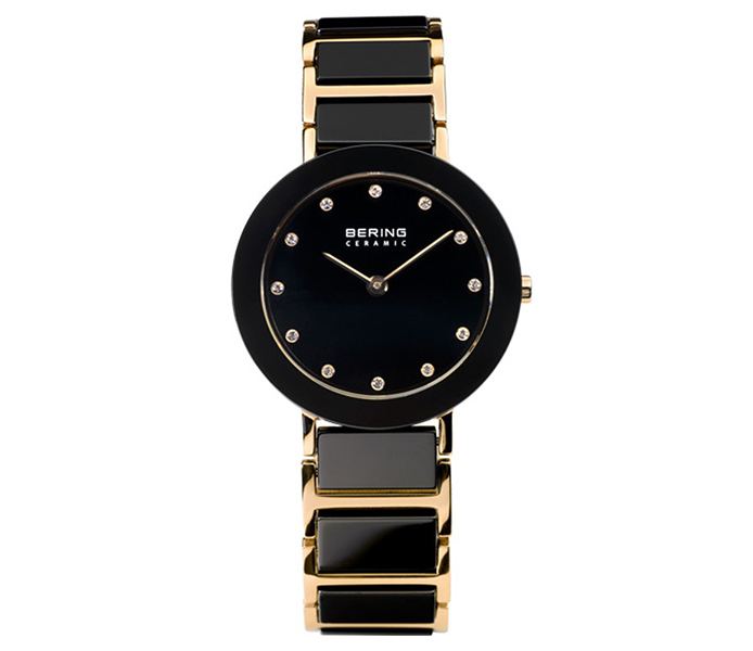 Bering Ladies' Ceramic Rose Gold Bezel Watch | 11429-746