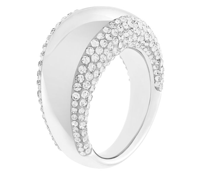 Swarovski Pebble Silver Ring, Size 55 | 5069735