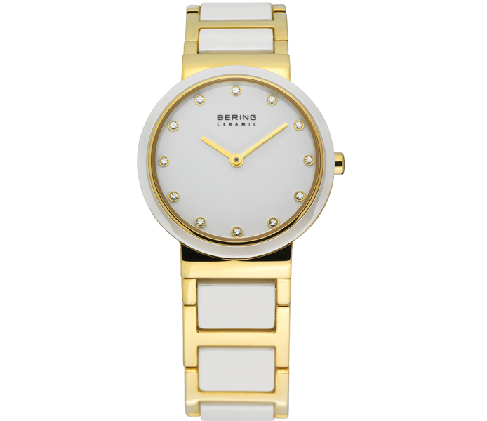Bering Ladies' Ceramic Links Gold Watch | 10725-751