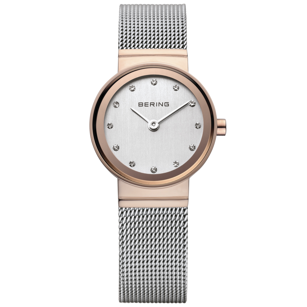 Bering Ladies' Stainless Steel Silver & Rose Gold Watch | 10126-066