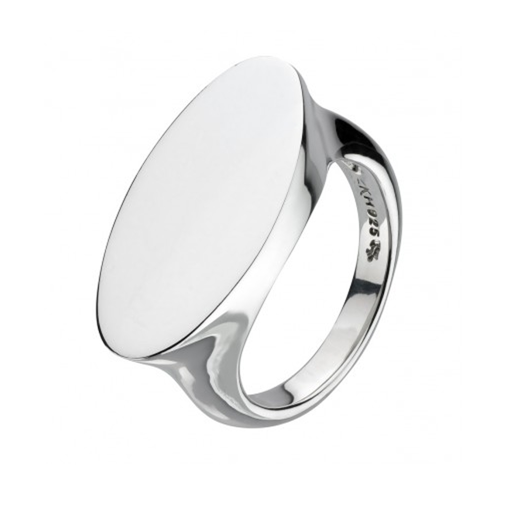 Kit Heath Bevel Heirloom Wide Oval Signet Silver Ring Size O | 1012HPO018