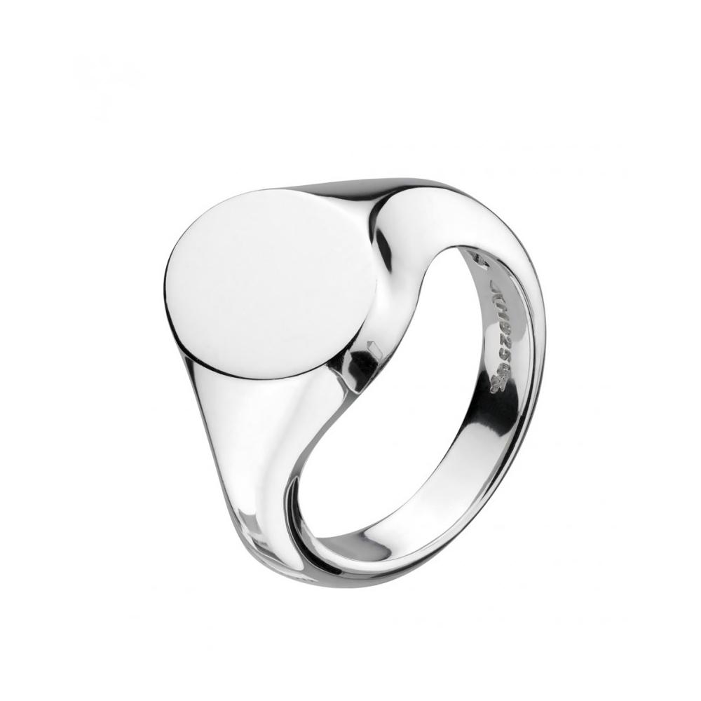 Kit Heath Bevel Heirloom Oval Signet Silver Ring Size K | 1014HPK018