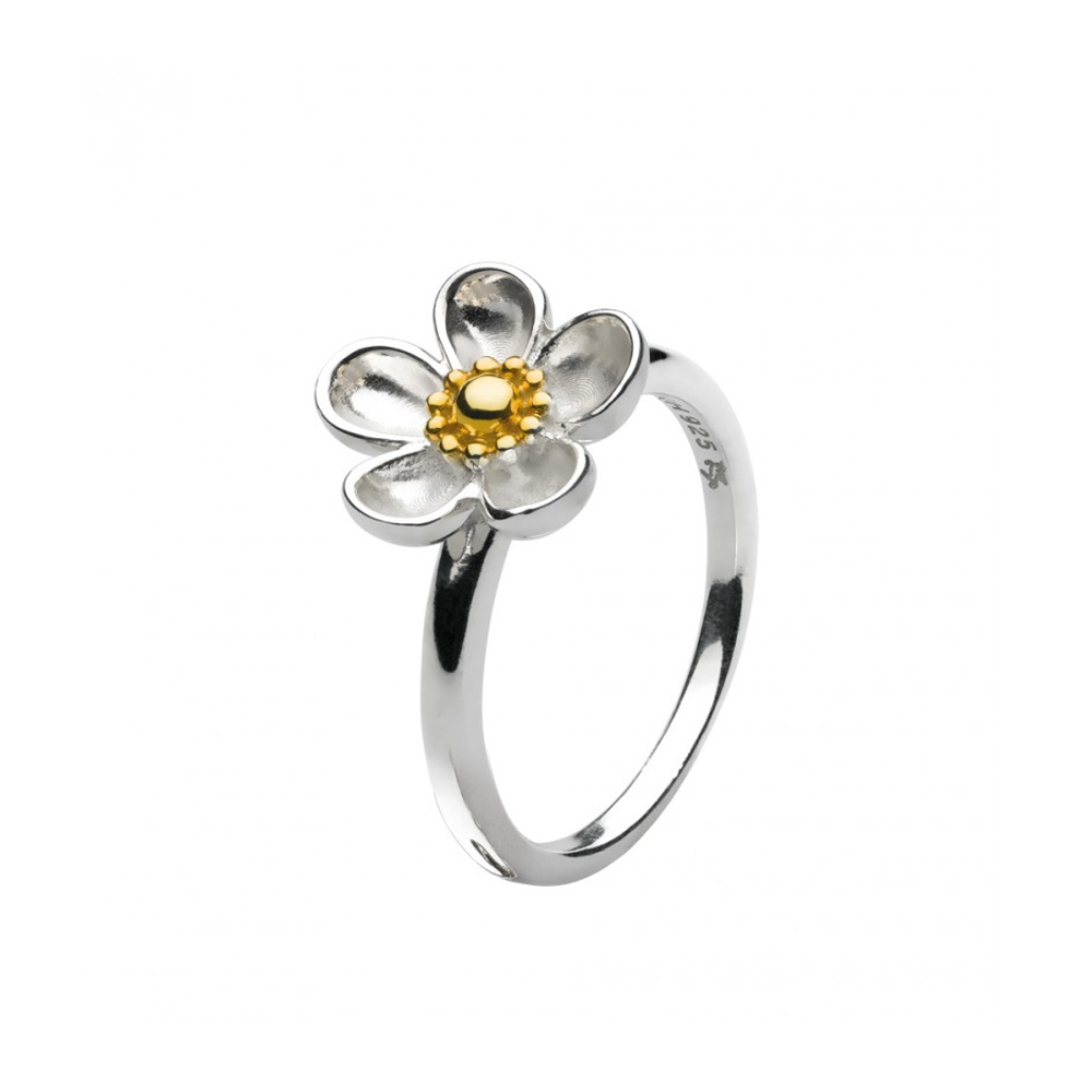 Kit Heath Blossom Large Wood Rose Gold Plated Ring Size N | 10307GDN018