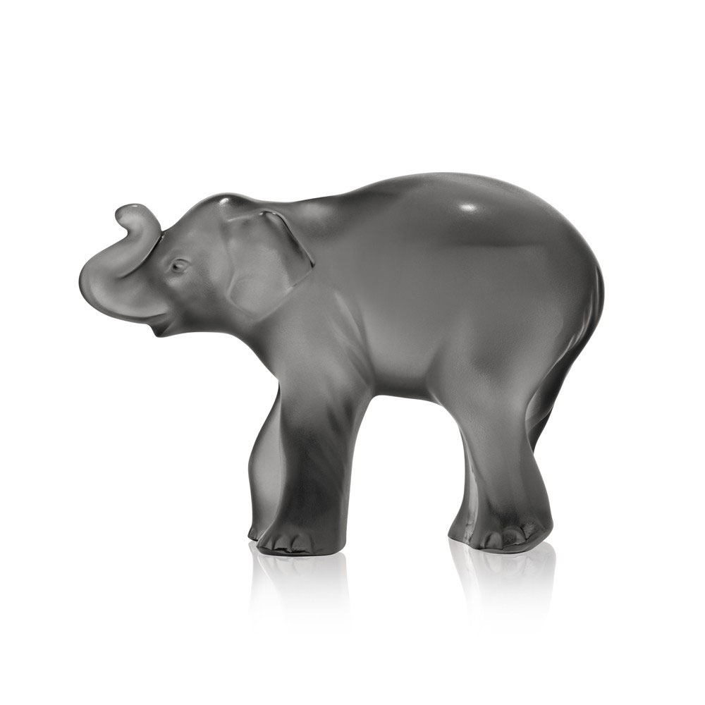 Lalique Grey Timora Elephant | 10492700