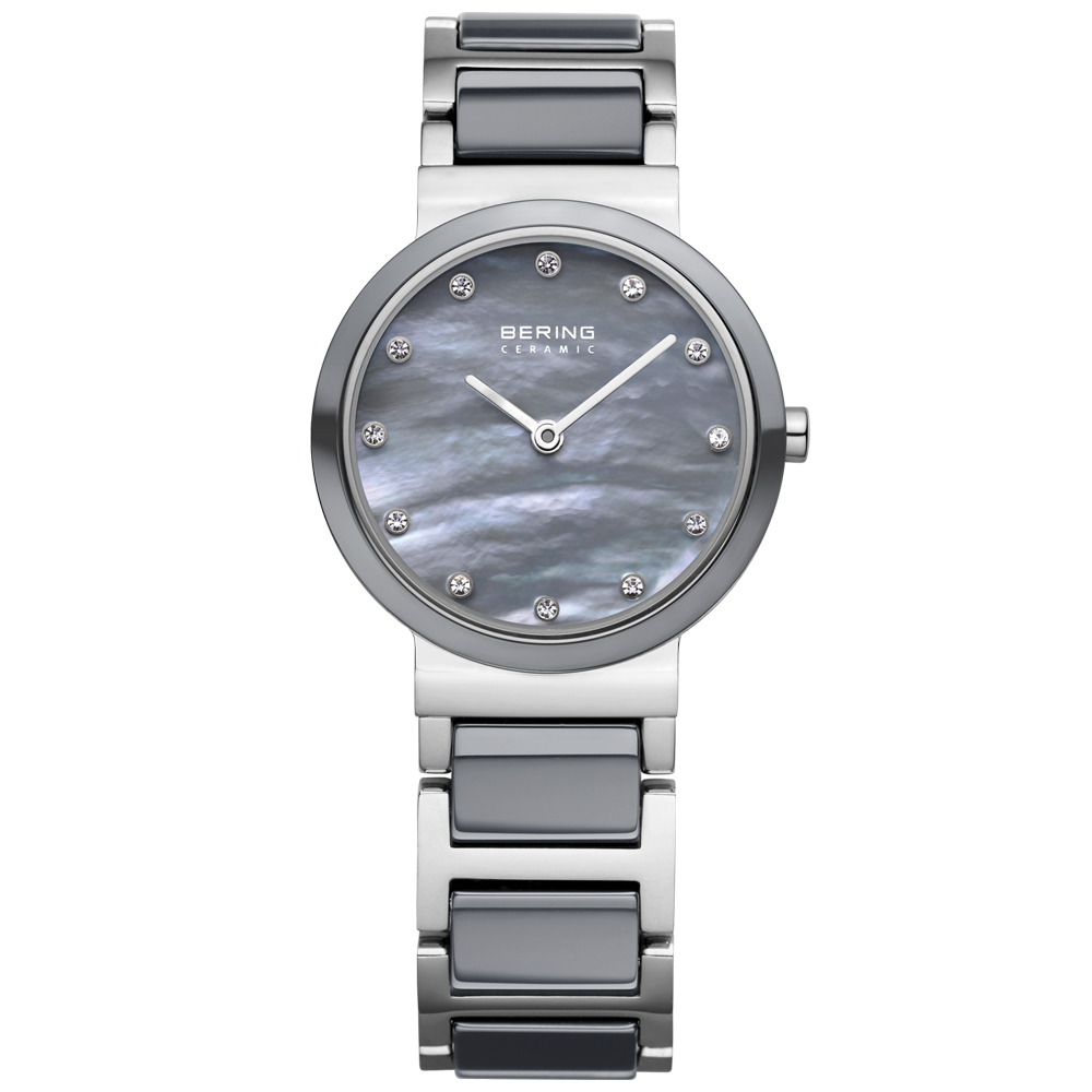 Bering Ladies' Ceramic Grey Watch | 10725-789