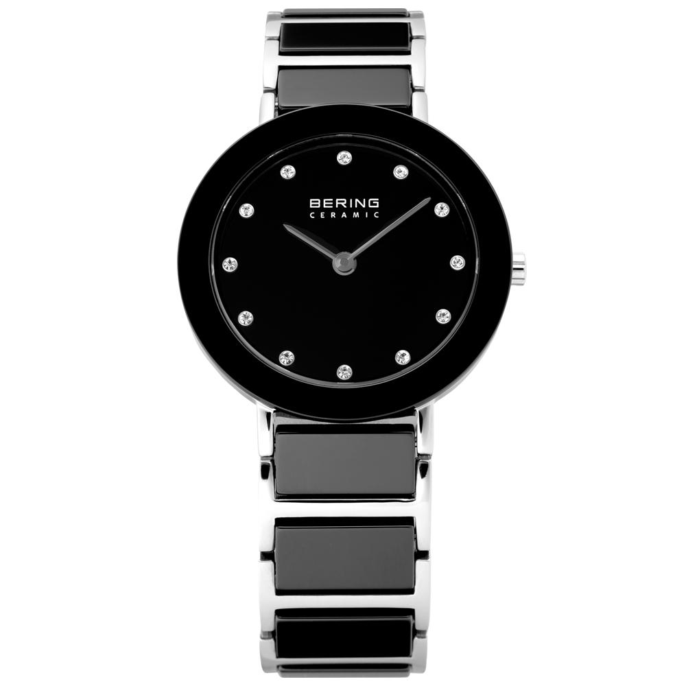 Bering Ladies' Ceramic Black & Stainless Steel Watch | 11429-742