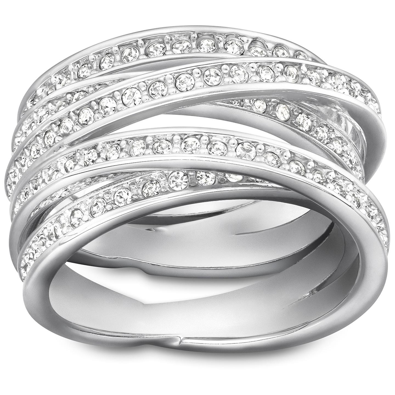Swarovski Spiral Silver Ring, Size 52 | 1156304