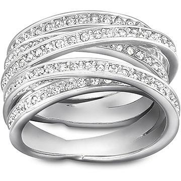 Swarovski Spiral Silver Ring, Size 60 | 1156307
