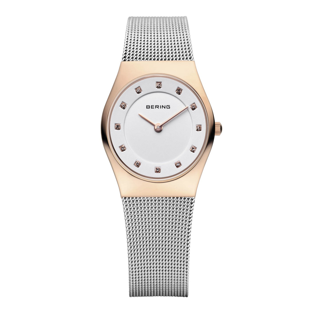 Bering Ladies' Steel & Rose Gold Tone Watch | 11927-064