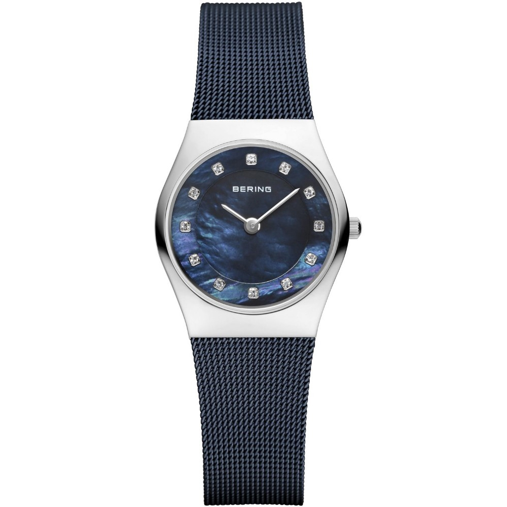 Bering Ladies' Stainless Steel Navy Tone Mesh Bracelet Watch | 11927-307