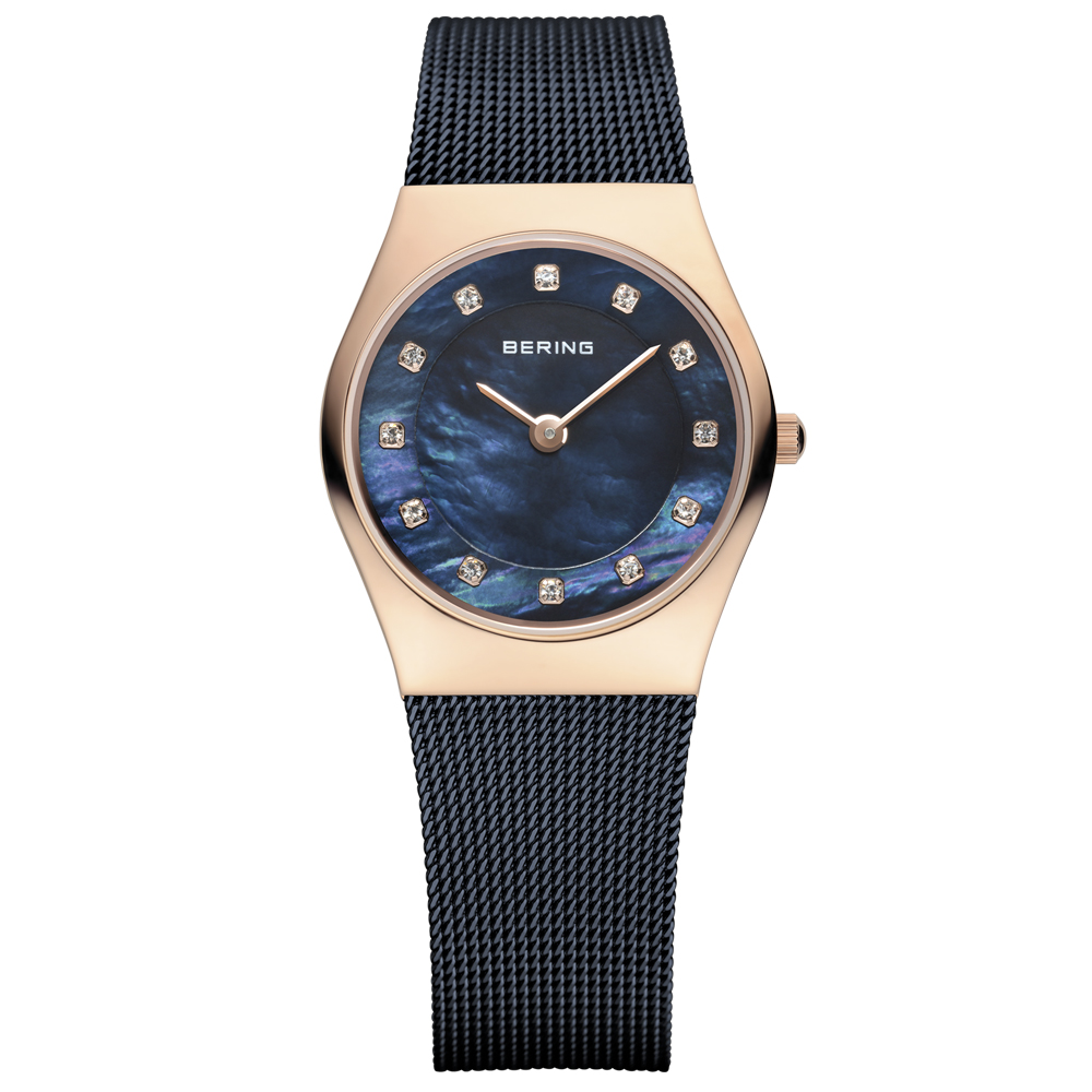Bering Ladies' Classic Blue Pearl Watch | 11927-367