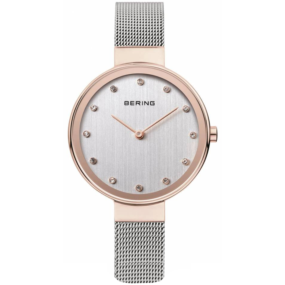 Bering Ladies' Stainless Steel Mesh Strap Silver Dial Watch | 12034-064