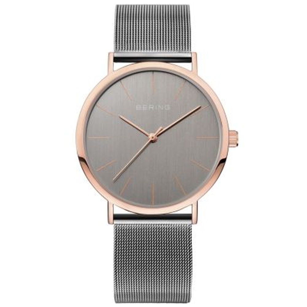 Bering Ladies' Rose Gold Grey Dial Watch | 13436-369
