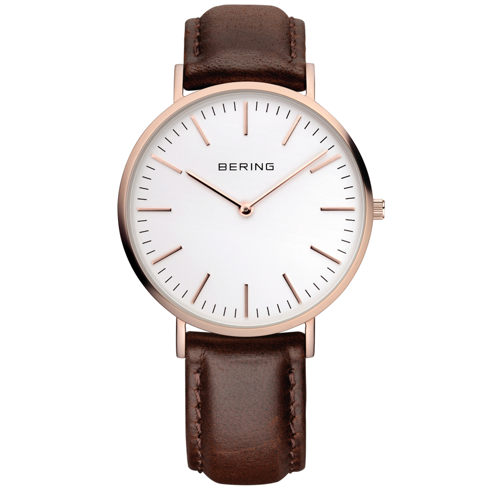 Bering Men's Classic Rose Gold Watch | 13738-564