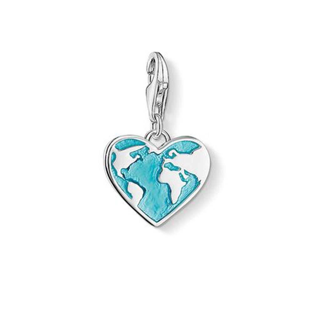 Thomas Sabo Charm Club Heart Globe Charm Pendant   142900717