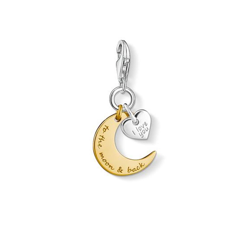 Thomas Sabo Charm Club Moon & Heart I Love You To The Moon & Back Charm Pendant | 144341339