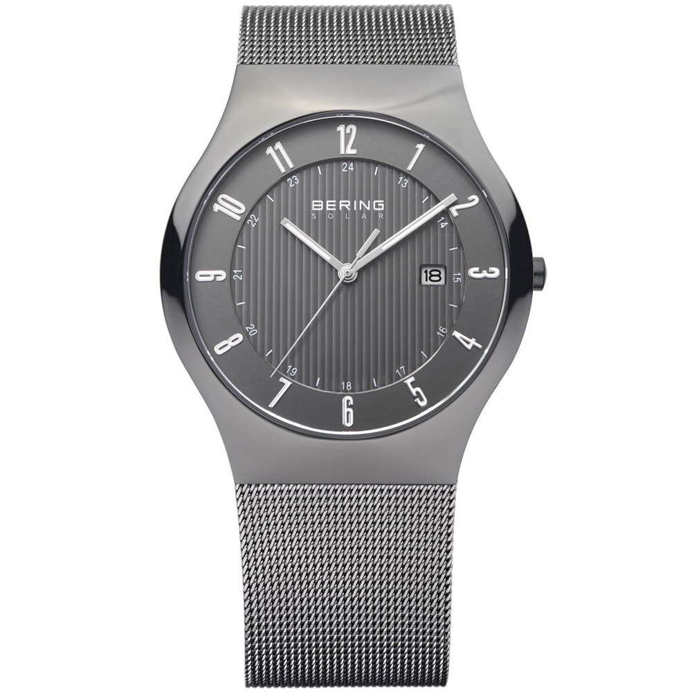 Bering Men's Solar Grey Dial Analog Watch | 14640-077