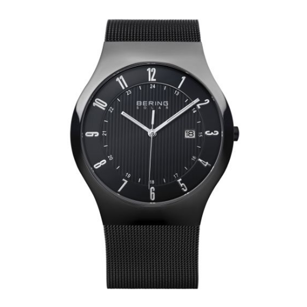 Bering Men's Black Solar Analog Watch | 14640-222