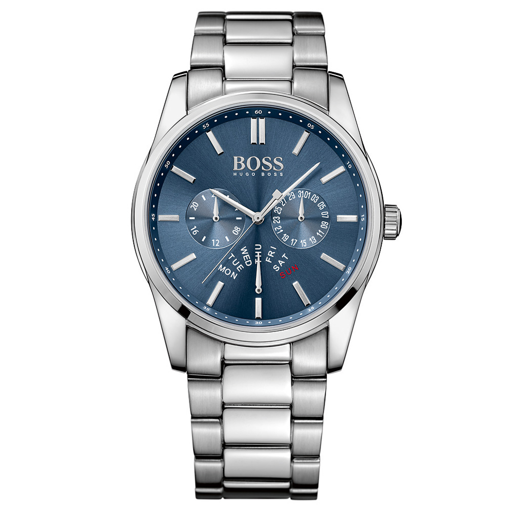 Hugo Boss Heritage Chronograph Bracelet Silver Watch | 1513126