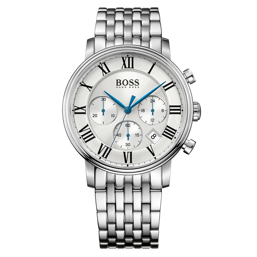 Hugo Boss Elevation Chronograph Bracelet Silver Watch | 1513322