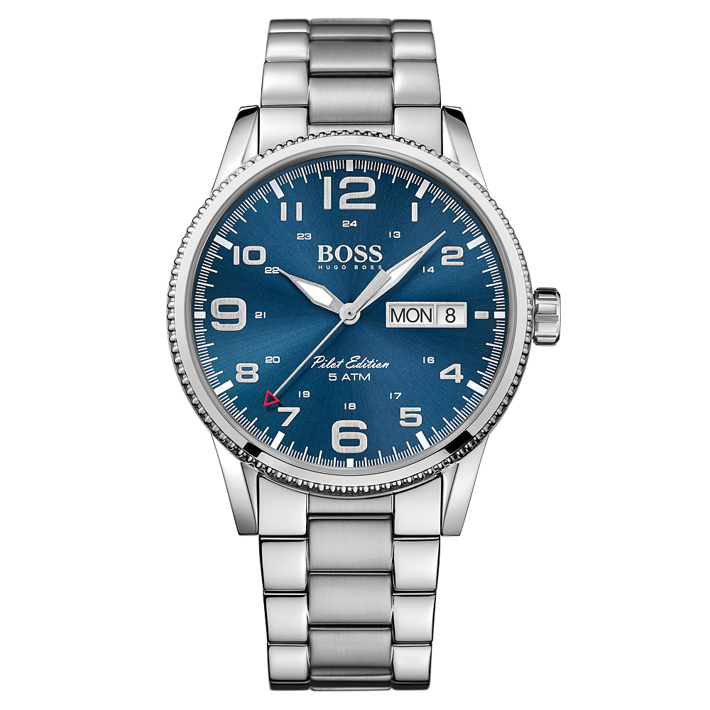 Hugo Boss Pilot Vintage Bracelet Silver Watch | 1513329