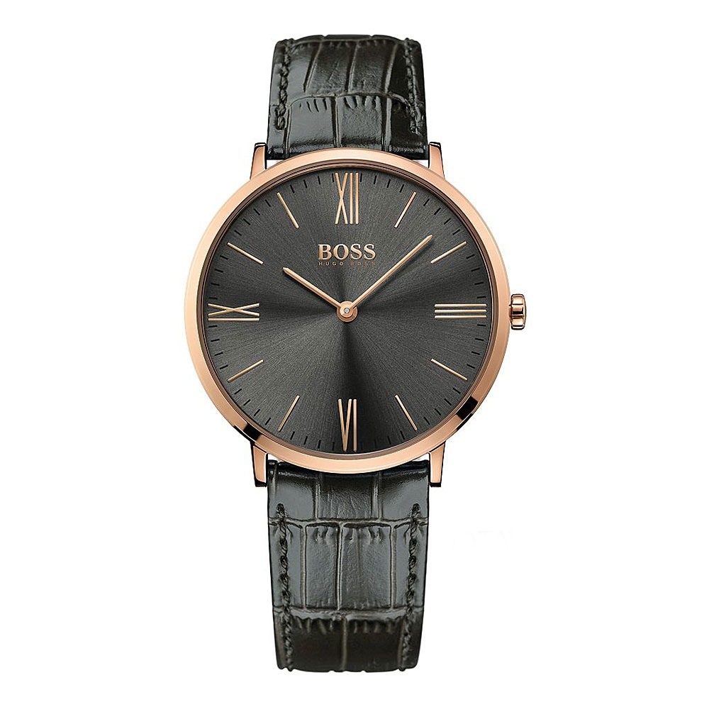 Hugo Boss Jackson Rose Gold & Grey Watch | 1513372