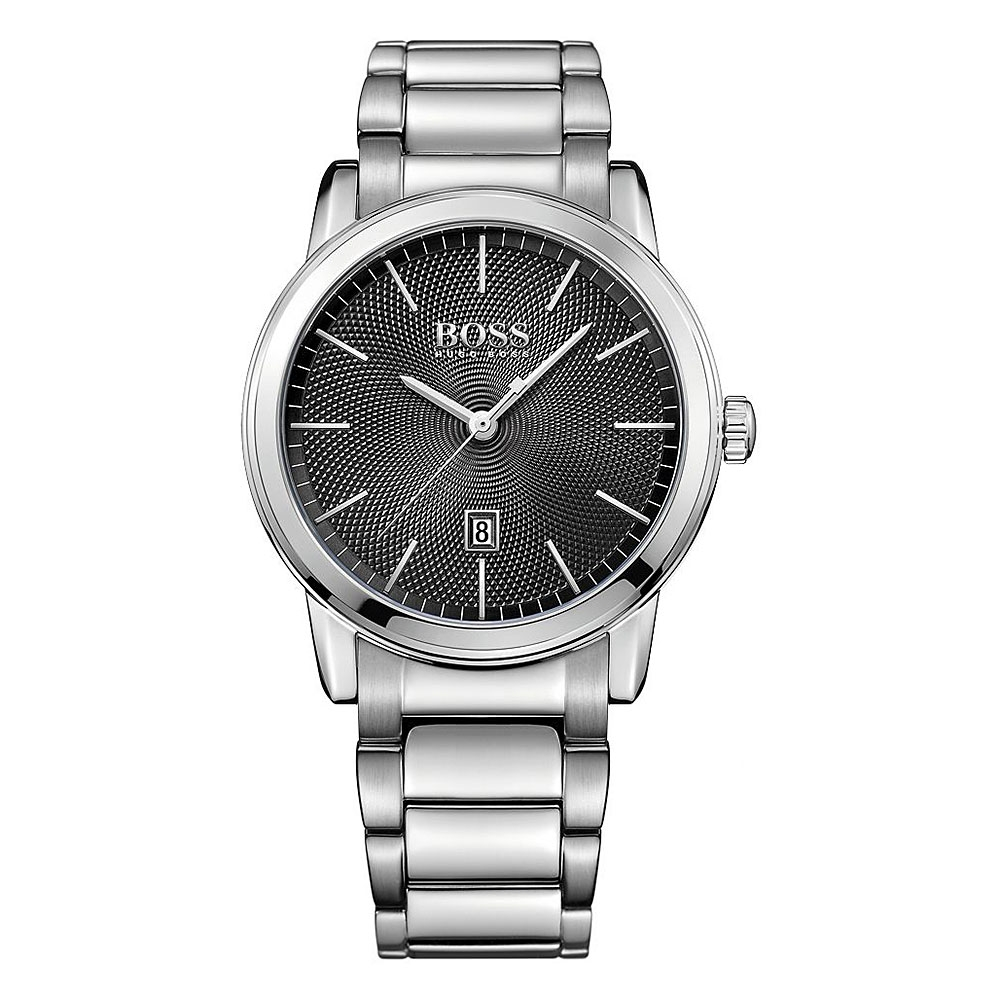 Hugo Boss Classic Stainless Steel Black Dial Silver Watch | 1513398