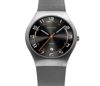 Bering Men's Titan Mesh Grey Brushed Watch | 11937-007