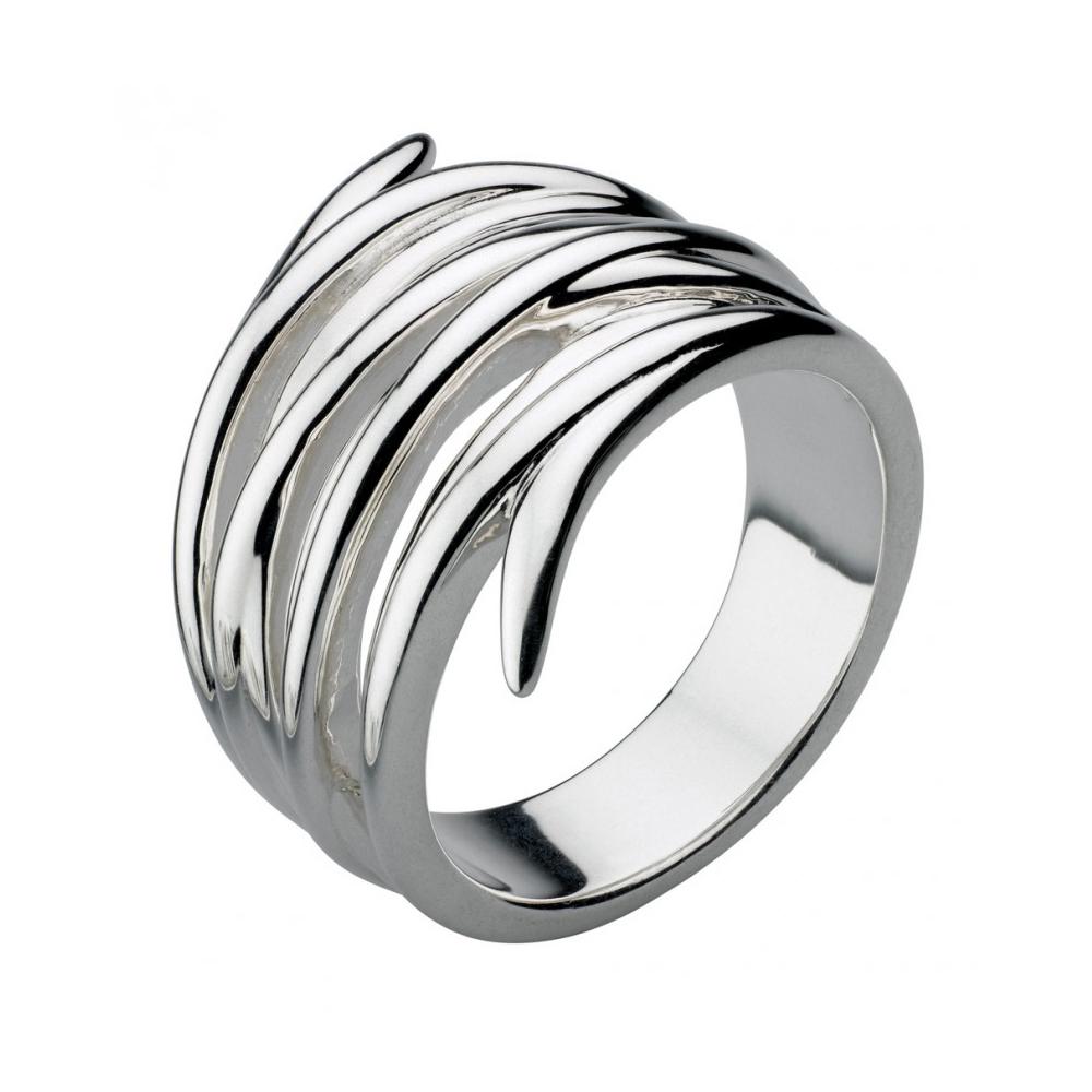 Kit Heath Twist Helix Wrap Silver Ring Size T | 20236HPT