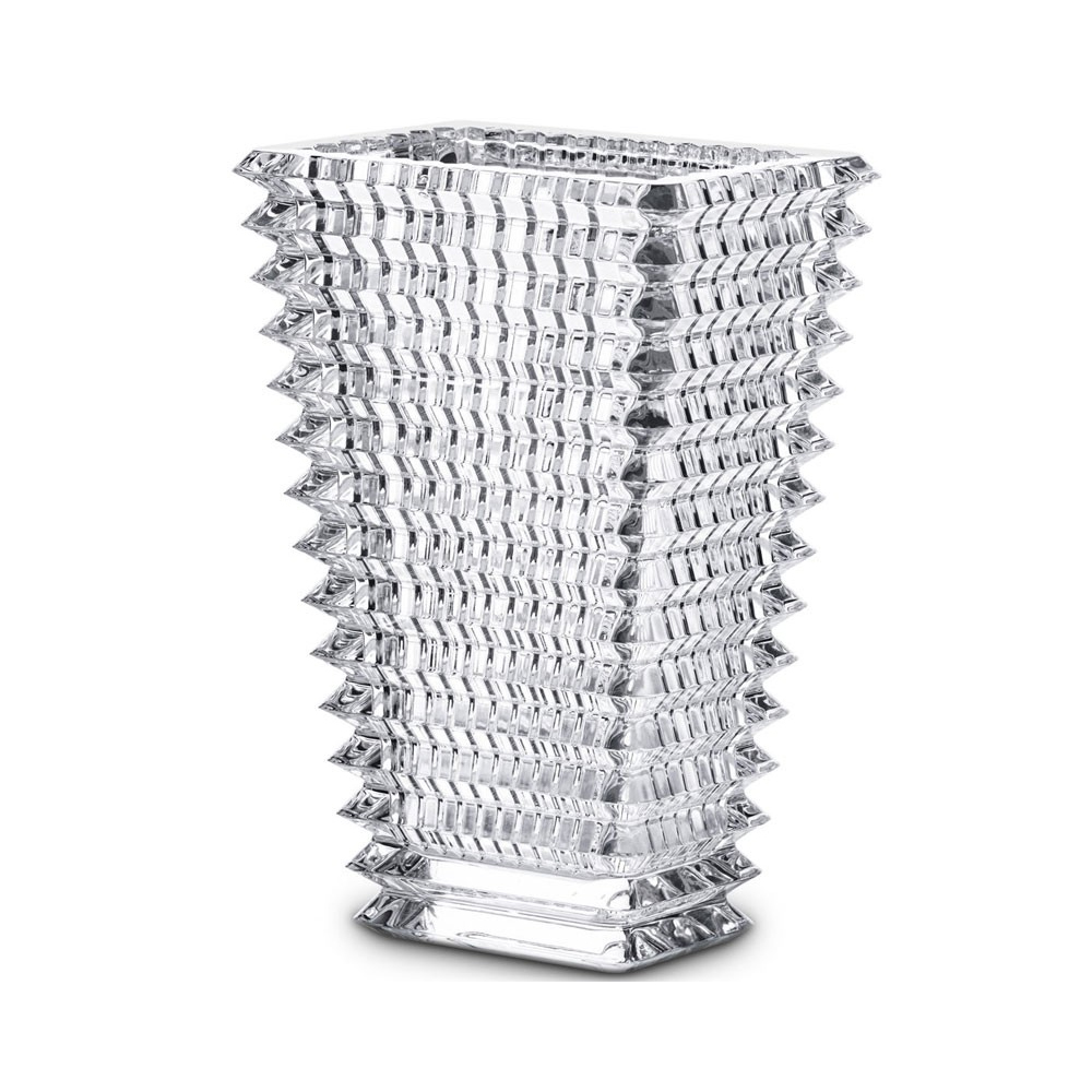 Baccarat Eye Rectangle Clear Tall Vase, Small | 2612989