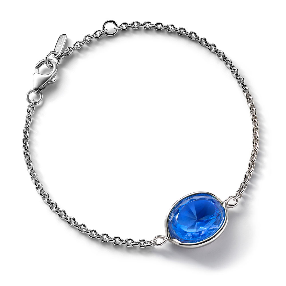 Baccarat Croise Chain Silver & Blue Crystal Bracelet | 2812965