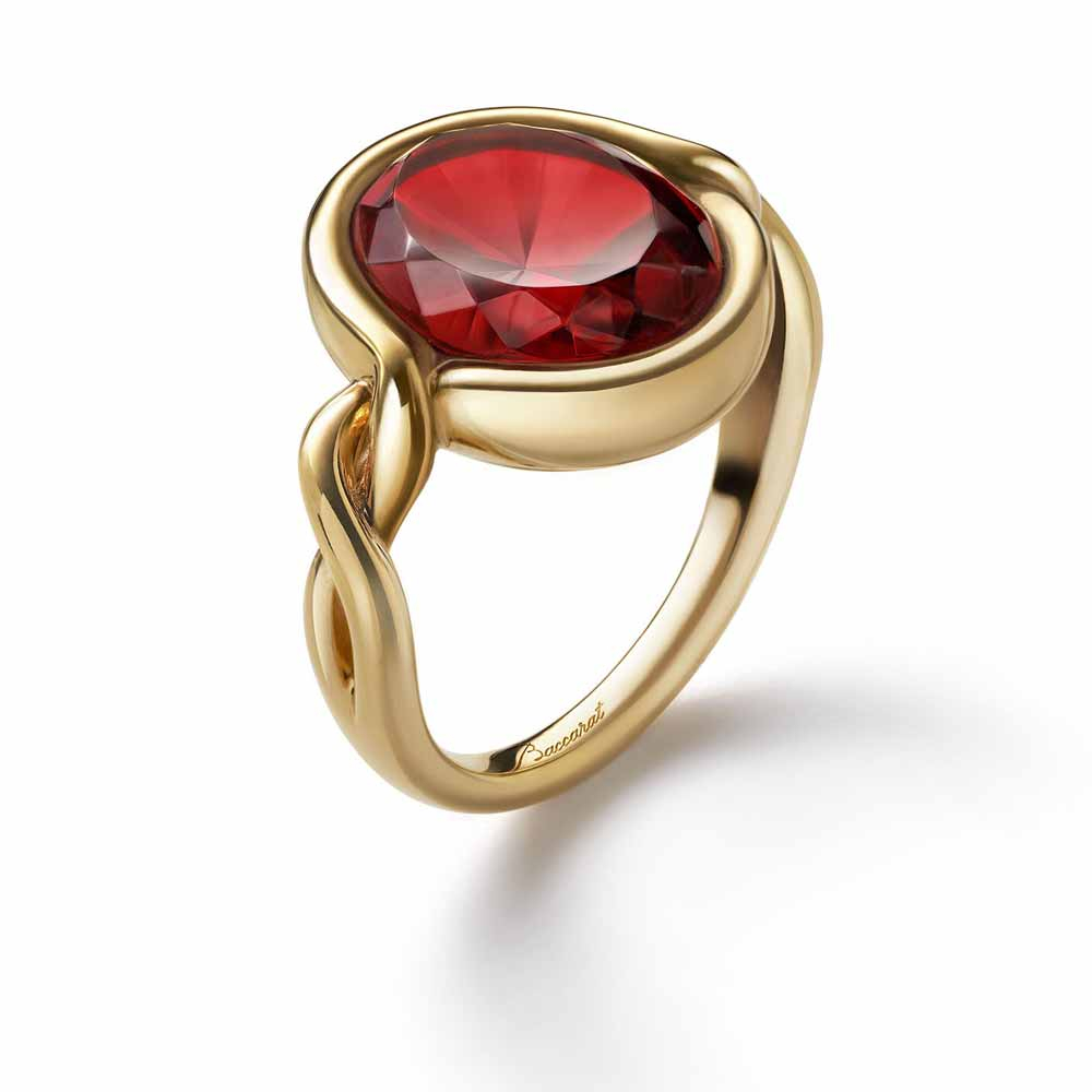Baccarat Croise Red Size 57 Ring