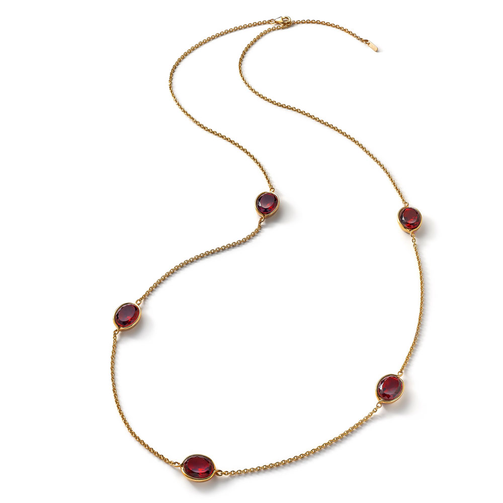 Baccarat Croise Long Red Crystal Necklace | 2812993