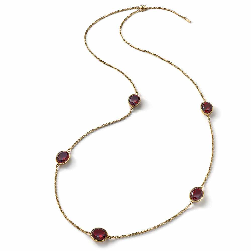 Baccarat Croise Long Red Crystal Necklace
