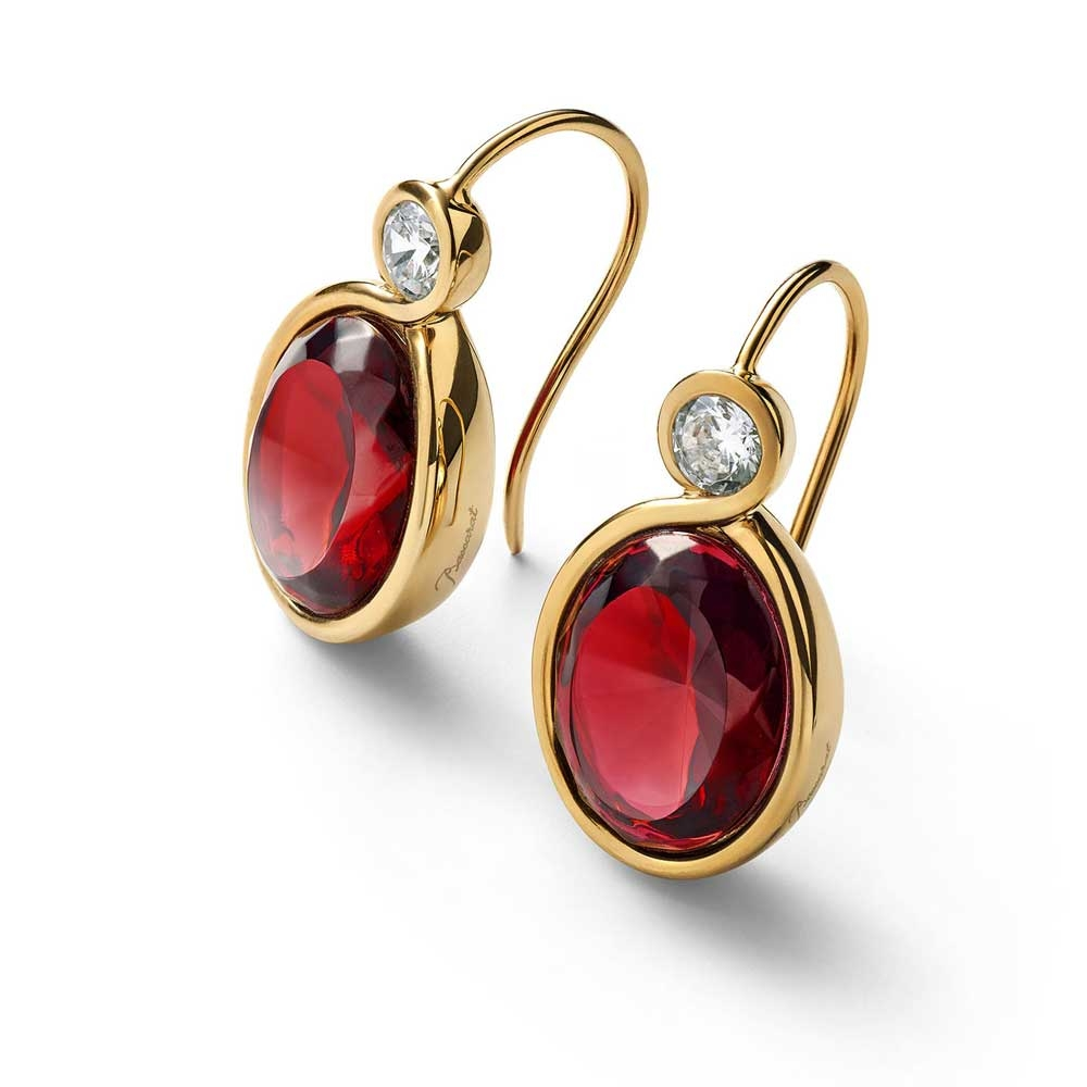 Baccarat Croise Wire Red Vermeil Earrings | 2812997