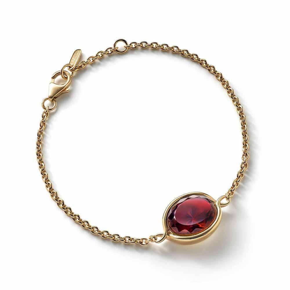 Baccarat Croise Red Vermeil Bracelet