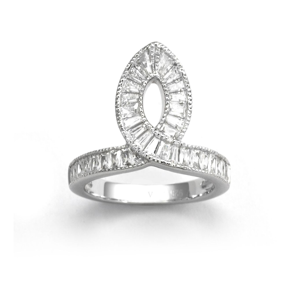 V Jewellery Taper Ring Size R | 3117