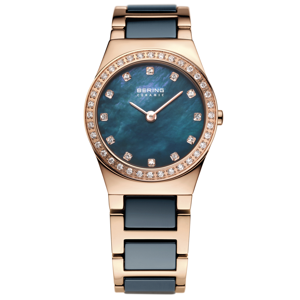 Bering Ladies' Ceramic Blue Mother of Pearl Watch | 32426-767