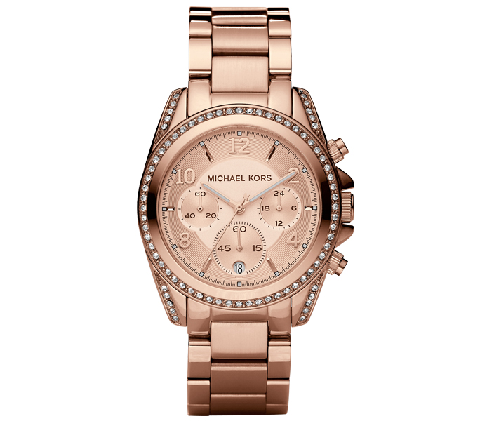 Michael Kors Blair Crystal Pave Bracelet Rose Gold Ladies' Watch | MK5263