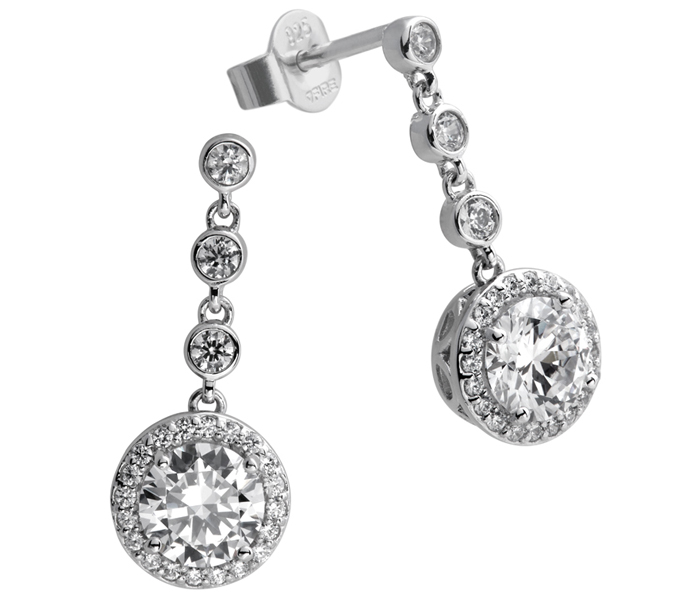 Diamonfire Signatures Lavish Round Drop Earrings | 62/1463/1/082