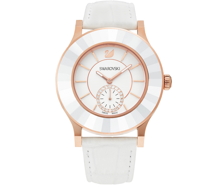 Swarovski Octea Classica White & Rose Gold Watch | 5043143