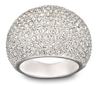 Swarovski Jewellery - Rings - Silver Stone Ring, Size 55