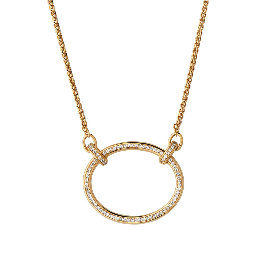 Links of London Ovals White Topaz Necklace, 18kt Gold Vermeil Plated
