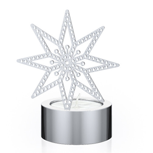 Swarovski Crystal  Christmas  Silver Star Tea Light