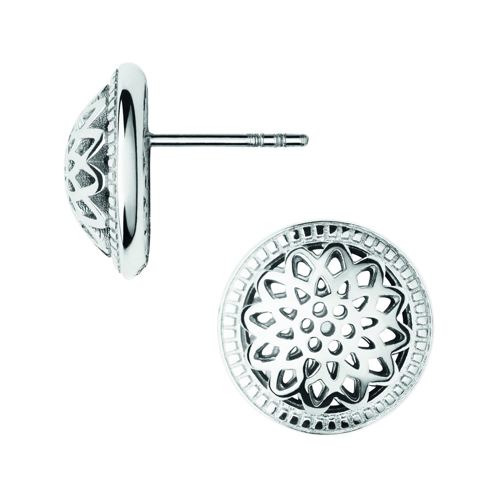 Links of London Timeless Silver Domed Stud Earrings | 5040.2555