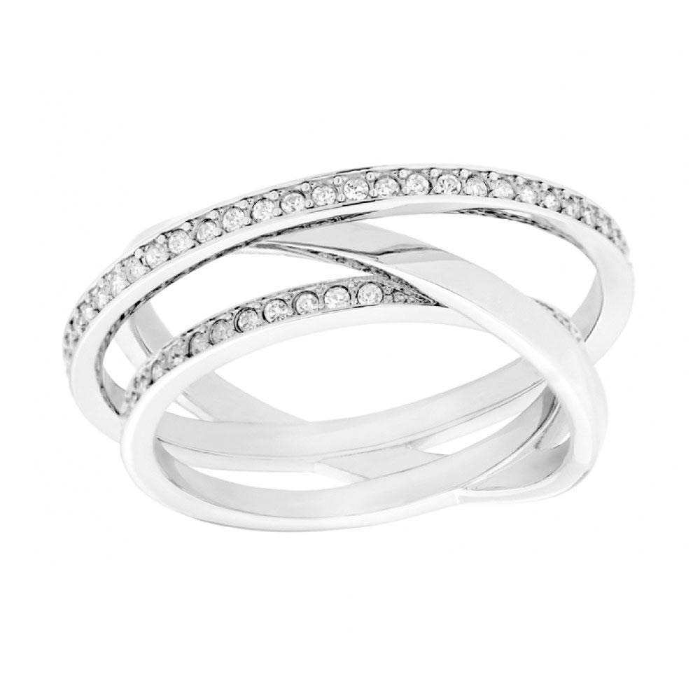 Swarovski Silver Spiral Ring, Size 55 | 5071169