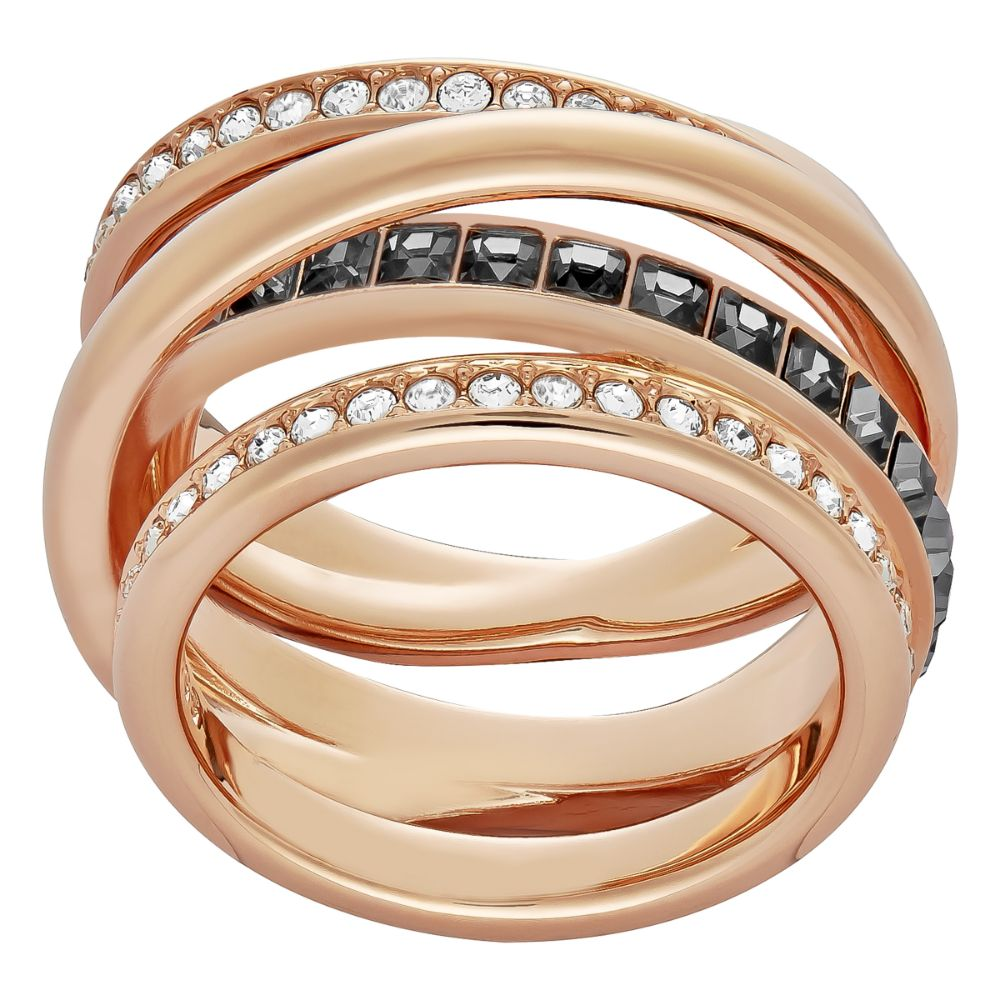 Swarovski Dynamic Rose Gold Ring, Size 55 | 5143411