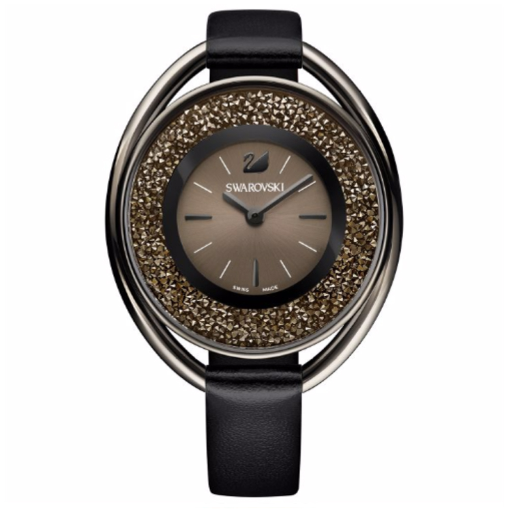 Swarovski Crystalline Oval Black Watch | 5158517